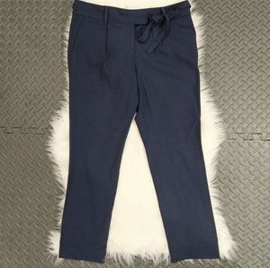 Loft slim tie waist pencil pants in Marissa sz 6